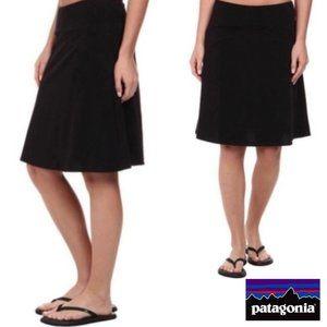 Patagonia Black Faux Wrap Skirt
